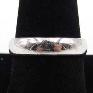Vintage Size 9.75 Sterling Rustic Simple Band